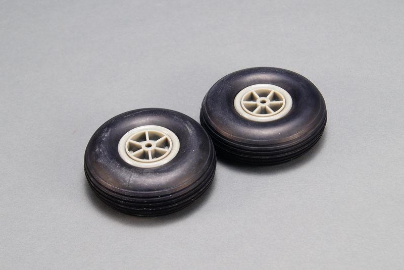 TREADED RUBBER WHEEL (76MM)